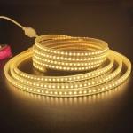 5m SMD 2835 600 LEDs LED Strip Light, AC 220V-240V, EU Plug(Warm White)