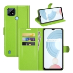For OPPO Realme C21 Litchi Texture Horizontal Flip Protective Case with Holder & Card Slots & Wallet(Green)