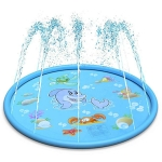 Round Water Pad Children Water Fun Toy Outdoor Lawn Mat, Diameter: 170cm(Dolphins)