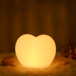 1.2W Home Smart Love Shape Night Light USB Rechargeable Bedside LED Table Lamp(16 Color Remote Control)