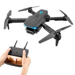 S89 4K HD Aerial Folding UAV Air Pressure Fixed Altitude Remote Control Quadcopter, Model: 4K 1 Camera 1 Battery (Black)
