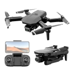 S68 4K Mini Folding Remote Control Drone Air Pressure Fixed Altitude Quadcopter For Aerial Photography, Model: 1 Battery With 2 4K Camera (Black)