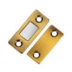 10 PCS Punch-Free Invisible Cabinet Door Magnetic Suction Launcher Door Suction Double Magnet Sliding Door Suction(Yellow Bronze)