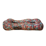 CG-028 Lazy Inflatable Bed Sofa Outdoor Fast Inflatable Bed Size: 190x80x55cm(Orange Red/Polyester)