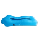 CG-028 Lazy Inflatable Bed Sofa Outdoor Fast Inflatable Bed Size: 190x80x55cm(Sky Blue)