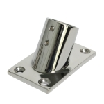 Thicken 316 Stainless Steel 60-Degree Square Tube Base Marine Boat Hardwares, Specifications: 25mm
