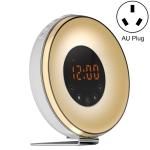 Simulated Sunrise And Sunset Sleep Light Alarm Clock with FM Radio(AU Plug)