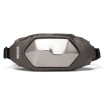 FLYING TERN Outdoor Sports Chest Bag Mobile Phone Messenger Bag Polyhedral Hard Shell Waist Bag(Silver Gray)
