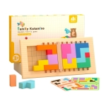 Children Thinking Logic Cube Game Wooden Variety Jigsaw Puzzle Building Block Toys(Dual Players)