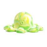 2 PCS Double-Sided Flip Bubble Decompression Toy Octopus Keychain, Colour: Camouflage Green