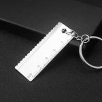 10 PCS Tool Metal Keychain Car Key Ring Pendant, Colour: H-404 Ruler