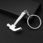 10 PCS Tool Metal Keychain Car Key Ring Pendant, Colour: H-394 Unilateral Pattern Hammer