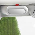 Car Glasses Case Multi-Function Automobile Inner Visor Storage Card(White)