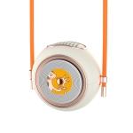 X01 Magic Bean Hanging Neck Small Fan Student Mini USB Handheld Portable Fan(Cream White)