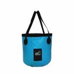 2 PCS PVC Folding Outdoor Bucket Car Portable Fishing Bucket, Size: 20L(Sky Blue)
