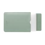 BUBM PGDNB-13 Vertical Square Type Solid Color PU Leather Waterproof Laptop Handbag Liner Bag, Size: 13 inch(Matcha Green)