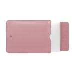 BUBM PGDNB-13 Vertical Square Type Solid Color PU Leather Waterproof Laptop Handbag Liner Bag, Size: 13 inch(Milk Tea Pink)