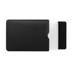 BUBM PGDNB-13 Vertical Square Type Solid Color PU Leather Waterproof Laptop Handbag Liner Bag, Size: 15 inch(Black)