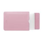 BUBM PGDNB-13 Vertical Square Type Solid Color PU Leather Waterproof Laptop Handbag Liner Bag, Size: 15 inch(Pink)
