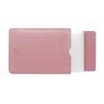 BUBM PGDNB-13 Vertical Square Type Solid Color PU Leather Waterproof Laptop Handbag Liner Bag, Size: 15 inch(Milk Tea Pink)