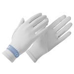 GOLOVEJOY XG40 Summer Sun-proof Gloves UV Protection Ice Cool Sweat-absorption Gloves(Light Gray)
