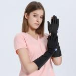 GOLOVEJOY XG33 Summer Ice Silk Sun-Proof Sleeve Outdoor Riding Anti-UV Gloves, Size: L(Black)