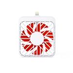 2 PCS K1 Mobile Phone Fan Mini Small Mute Handheld Portable Fan, Interface:  8 Pin
