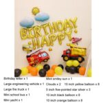 Children Birthday Party Theme Balloon Package Kindergarten Stage Background Wall Decoration Specification: Engineering Vehicle Birthday A