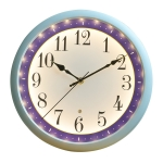 12 Inch Living Room Intelligent Voice Control Luminous Mute Wall Clock(White)