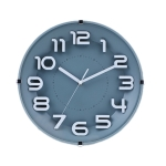 12 Inch Living Room Silent Wall Clock Round Stereo 3D Digital Wall Clock(Ink Green)