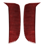 Car Carbon Fiber Daytime Running Light Decorative Sticker for Porsche Macan 2018-2021, Left and Right Drive Universal(Red)