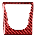 Car Carbon Fiber Electronic Handbrake Panel Decorative Sticker for Porsche Macan 2014-2021, Left and Right Drive Universal (Red)