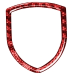 Car Carbon Fiber Steering Wheel Logo Decorative Sticker for Porsche Macan 2014-2021, Left and Right Drive Universal (Red)