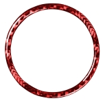 Car Carbon Fiber Stopwatch Ring Decorative Sticker for Porsche Macan 2014-2021, Left and Right Drive Universal (Red)
