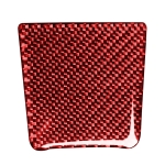 Car Carbon Fiber Battery Cover Decorative Sticker for Porsche Macan 2014-2021, Left and Right Drive Universal (Red)