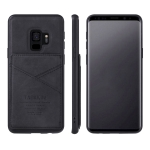 For Samsung Galaxy S9 TAOKKIM Retro Matte PU Leather + PC + TPU Shockproof Back Cover Case with Holder & Card Slot(Black)