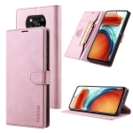 For Xiaomi Poco X3 NFC TAOKKIM Skin Feel Calf Texture Horizontal Flip PU Leather Case with Holder & Card Slots & Photo Frame & Wallet(Pink)