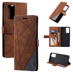 For OPPO Reno6 Pro 5G Skin Feel Splicing Horizontal Flip Leather Case with Holder & Card Slots & Wallet & Photo Frame(Brown)
