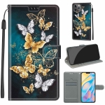 Voltage Colored Drawing Magnetic Clasp Horizontal Flip PU Leather Case with Holder & Card Slots For iPhone 11 Pro(C20 Gold Silver Flying Butterflies)