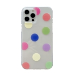 Colorfu Dot Pattern TPU Straight Edge Shockproof Case For iPhone 12 Pro Max(Red Green Yellow)