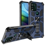 For Motorola Moto G Stylus 5G Shockproof TPU + PC Magnetic Protective Case with Holder(Blue)