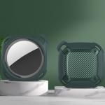 Bumblebee Carbon Fiber Texture Protective Cover Case For AirTag(Green)