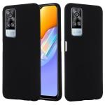 For vivo Y51 2020 / Y51a / Y51s / Y31 Pure Color Liquid Silicone Shockproof Full Coverage Case(Black)