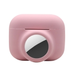 2 in 1 Shockproof Full Coverage Silicone Protective Case For AirPods Pro / AirTag(Pink)