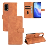 For Blackview A90 Solid Color Skin Feel Magnetic Buckle Horizontal Flip Calf Texture PU Leather Case with Holder & Card Slots & Wallet(Brown)