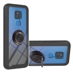 For Motorola Moto G Play 2021 Starry Sky Solid Color Series Shockproof PC + TPU Protective Case with Ring Holder & Magnetic Function(Black)