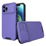 Sliding Camera Cover Design PC + TPU Protective Case For iPhone 12 Pro(Purple)