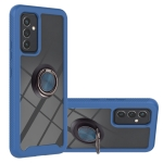 For Samsung Galaxy A82 5G Starry Sky Solid Color Series Shockproof PC + TPU Protective Case with Ring Holder & Magnetic Function(Blue)