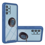 For Samsung Galaxy A32 4G EU Version Starry Sky Solid Color Series Shockproof PC + TPU Protective Case with Ring Holder & Magnetic Function(Blue)