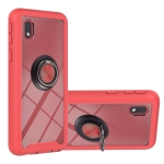 For Samsung Galaxy A01 Core Starry Sky Solid Color Series Shockproof PC + TPU Protective Case with Ring Holder & Magnetic Function(Red)